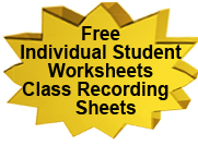 Free Class Recording Sheet for The Reading Game.  Click here.